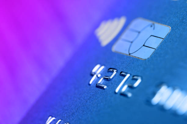 Credit card close-up stock photo