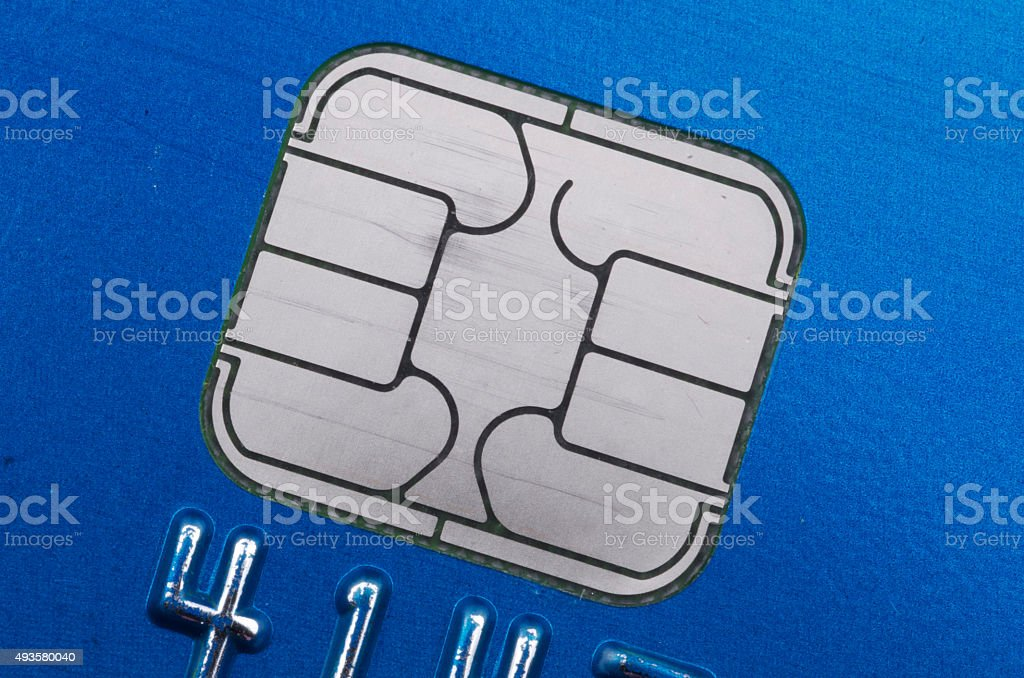 EMV Credit Card Computer Chip Technology stock photo