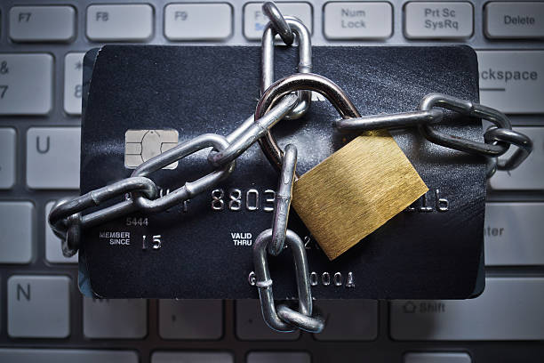 credit card data encryption security - identity stock photos and pictures