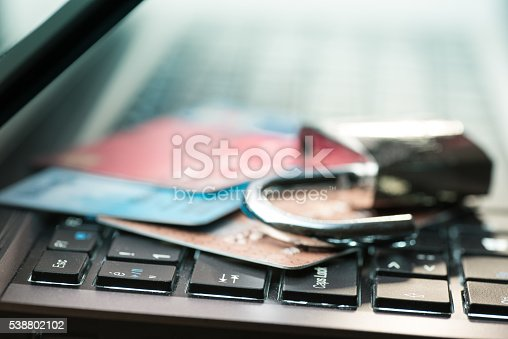 istock Credit card data security concept 538802102