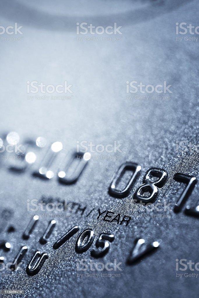 Credit card detail royalty-free stock photo