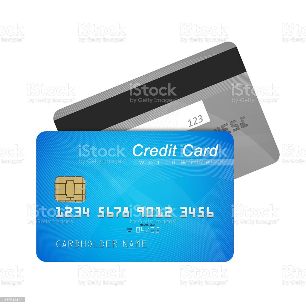 Credit card front and back stock photo