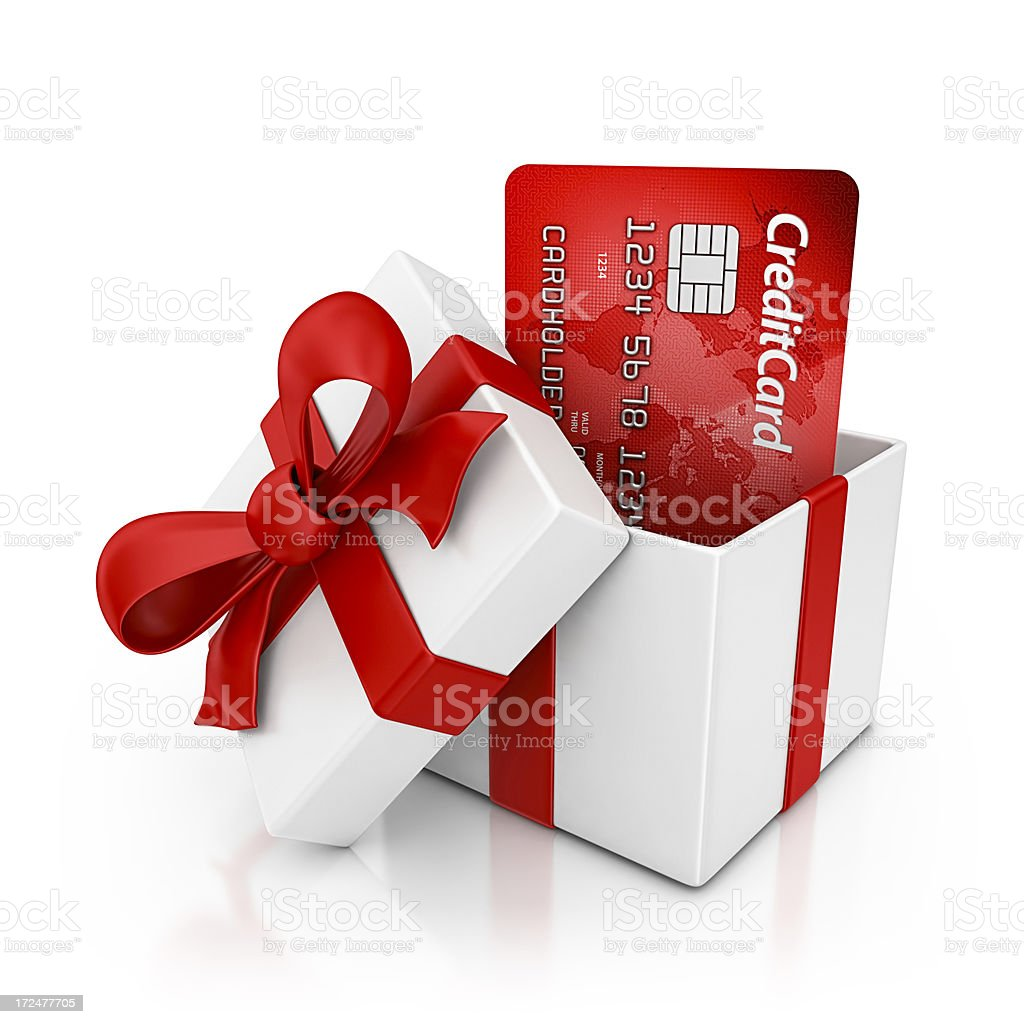 credit card gift royalty-free stock photo