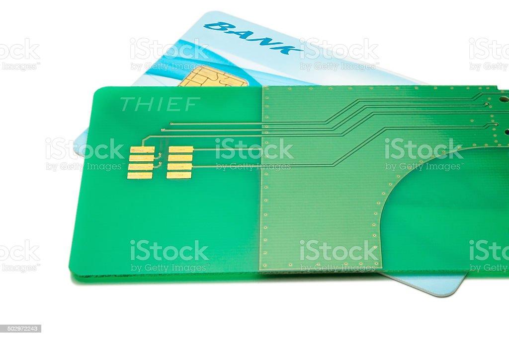 Credit card hack stock photo