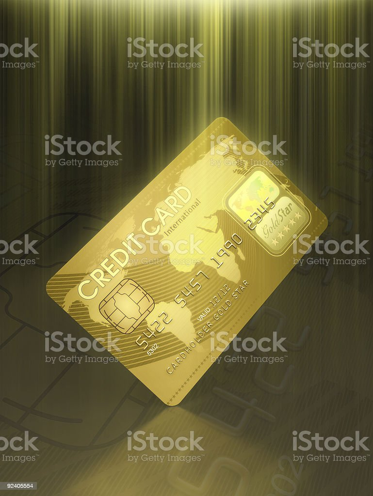 Credit Card Illuminated stock photo