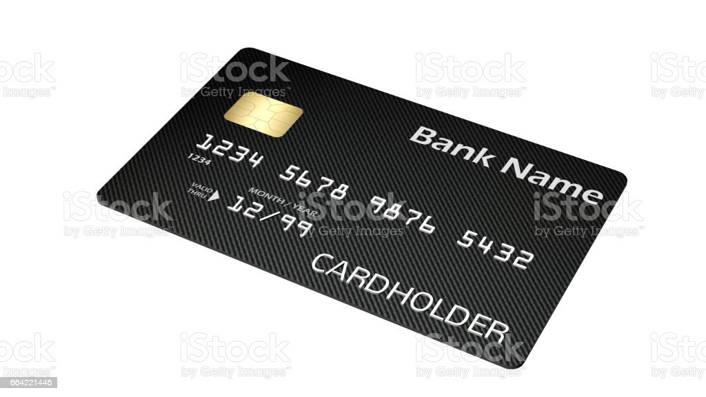 Credit Card isolated on white background – Foto