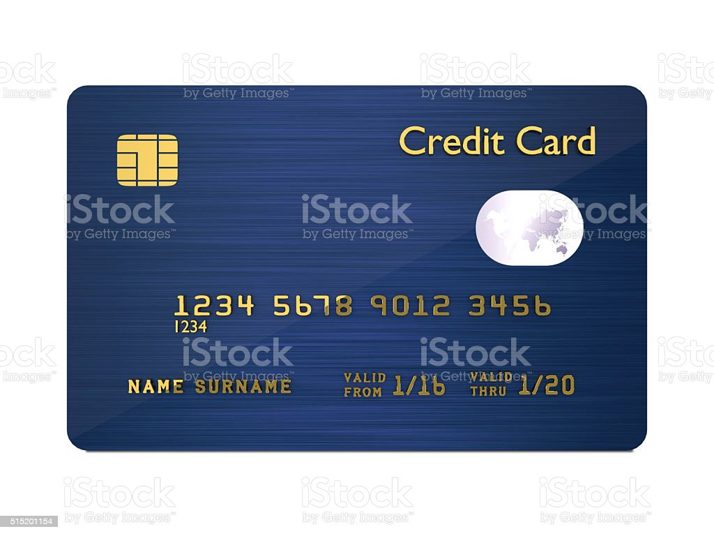 credit card isolated over white background stock photo