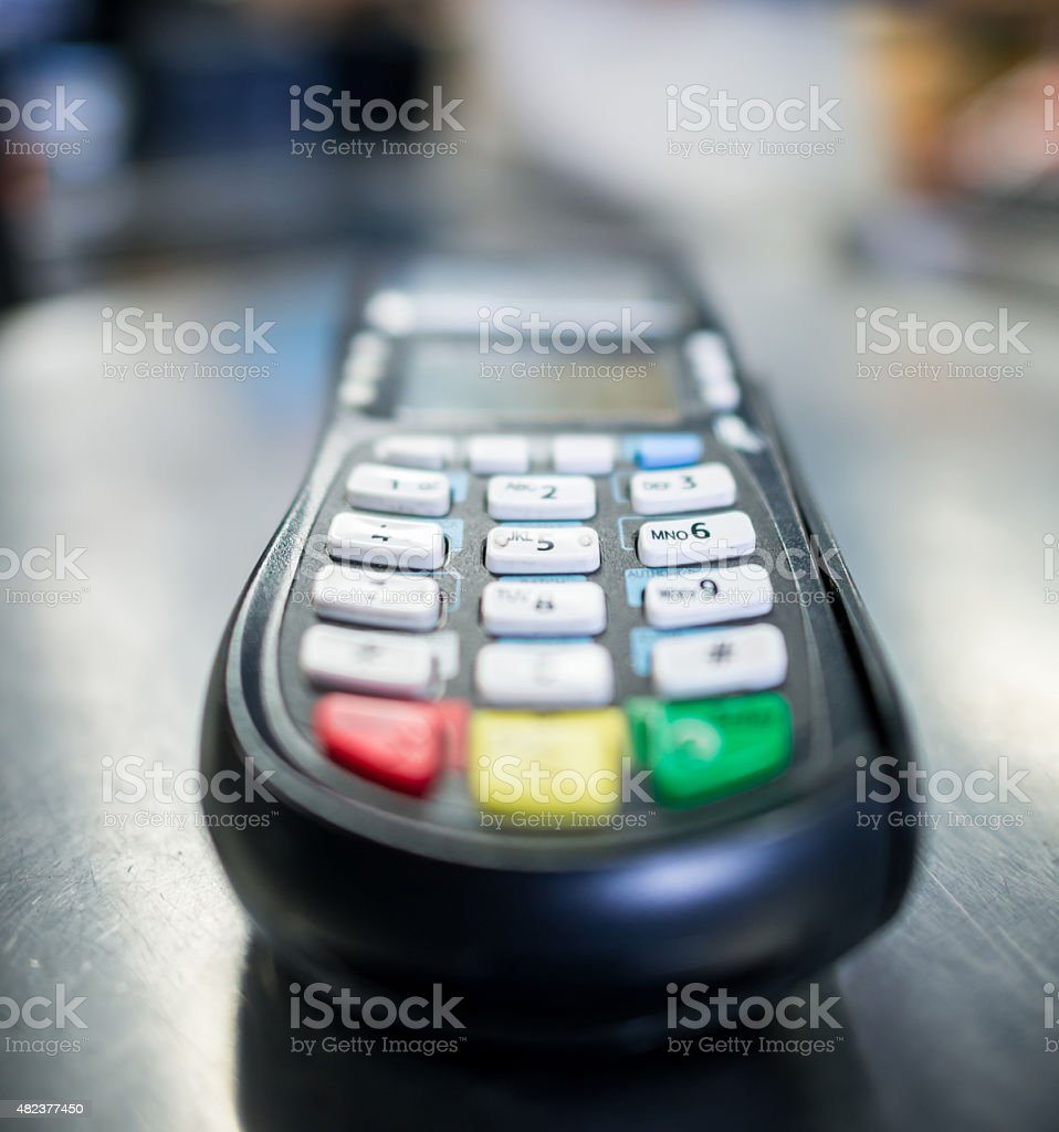 Credit Card Machine At A Small Business Stock Photo More Pictures
