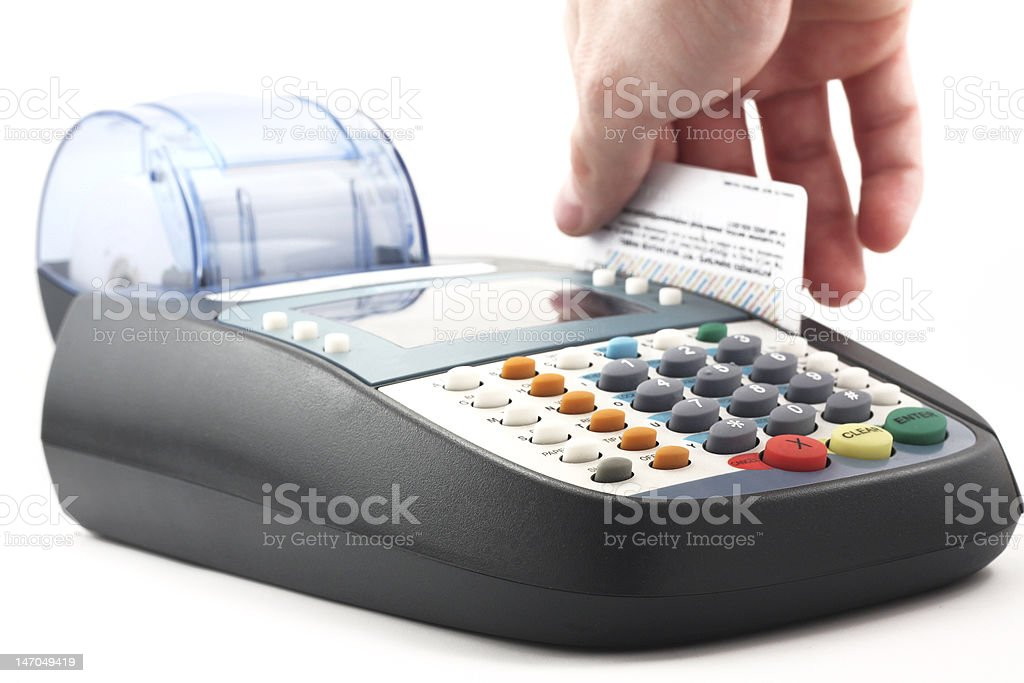 Credit Card Machine - Isolated royalty-free stock photo