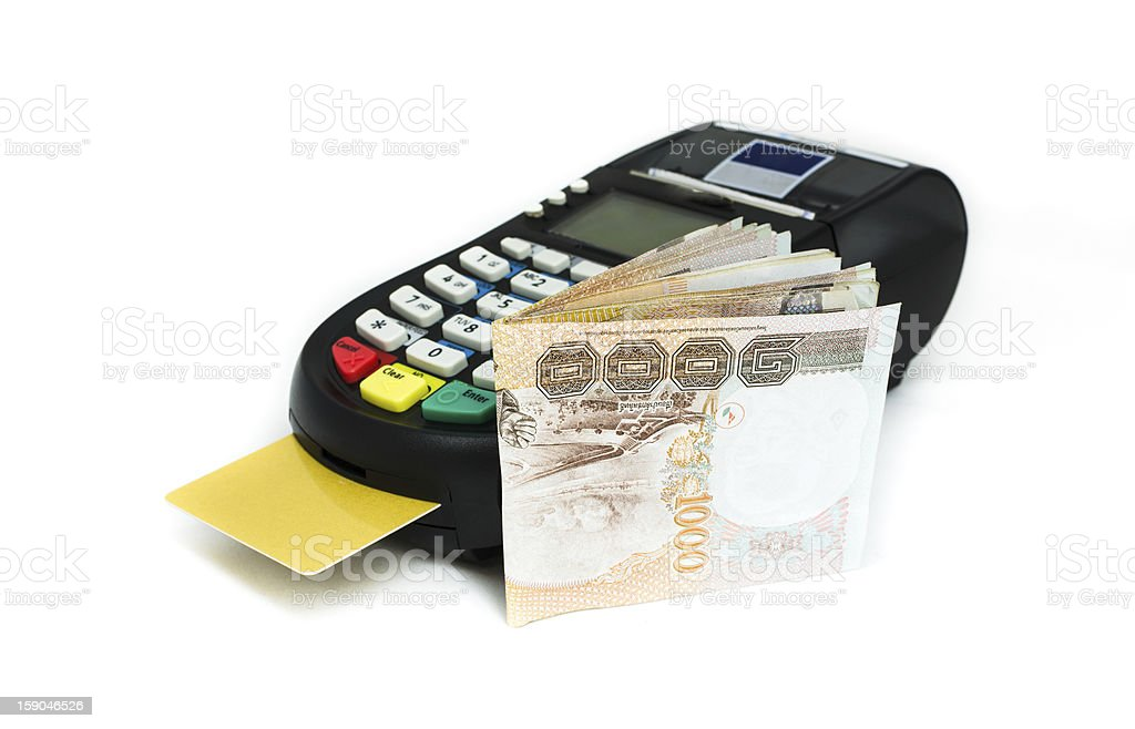 credit card machine royalty-free stock photo