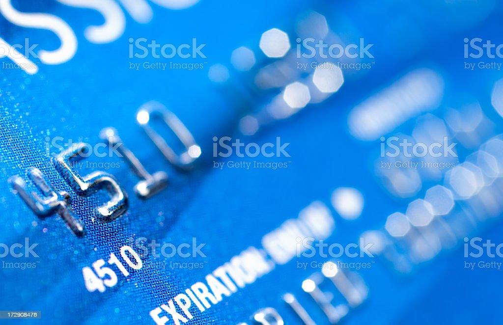 Credit Card Macro royalty-free stock photo