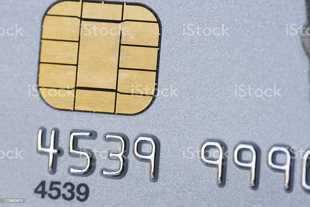 credit card micro chip royalty-free stock photo