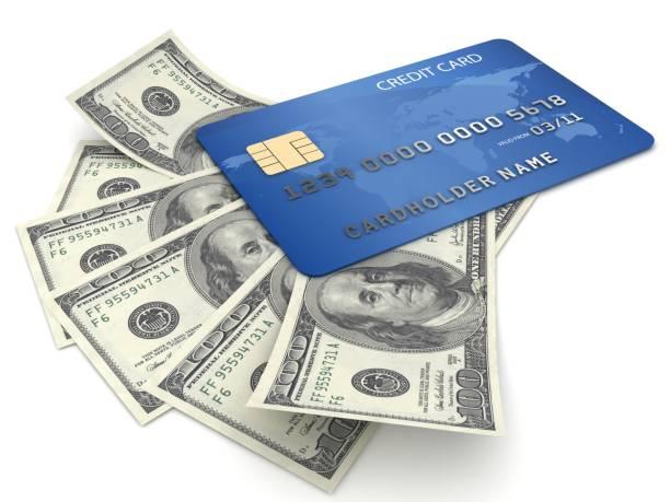 La carte de crédit et de l'argent - Photo