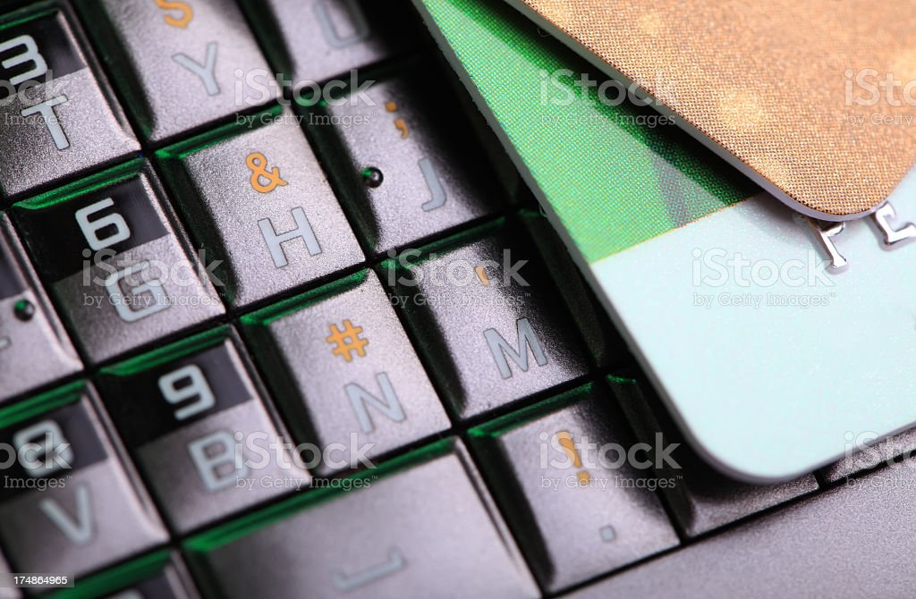 Credit Card on the Cellphone royalty-free stock photo