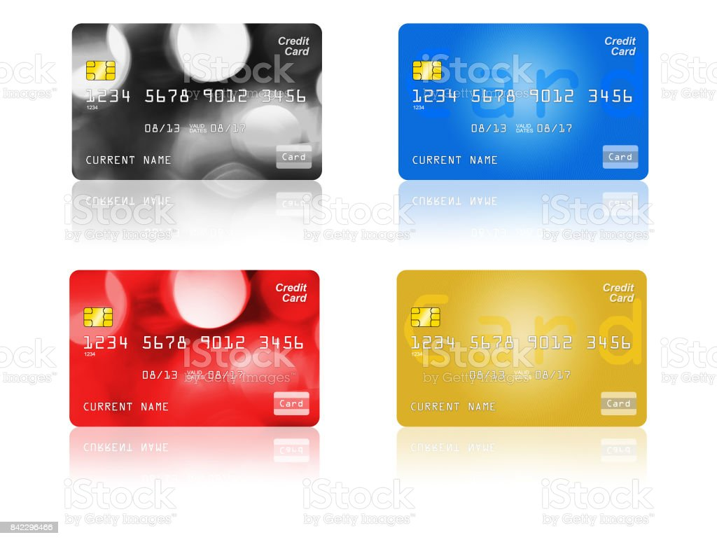 Credit Card On White Background stock photo