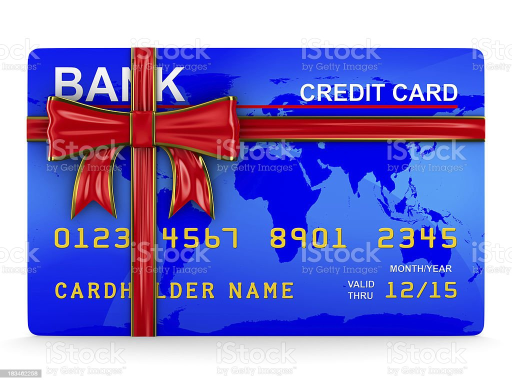 credit card on white. Isolated 3D image royalty-free stock photo