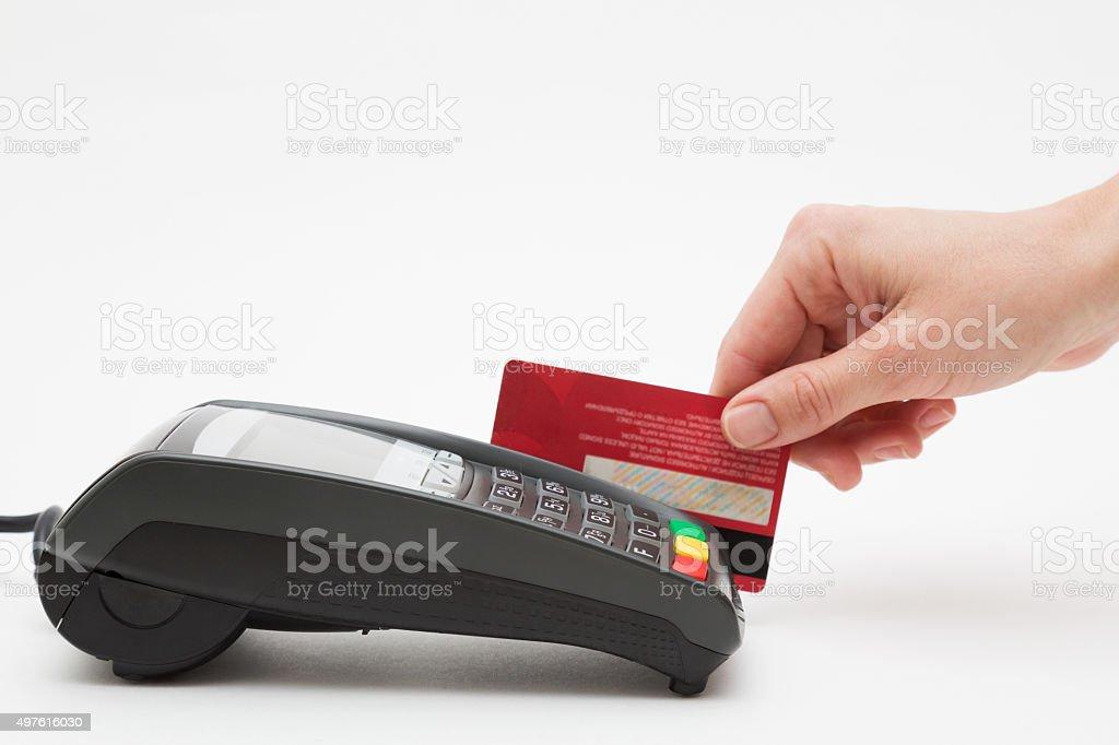 Credit Card Payment Terminal stock photo