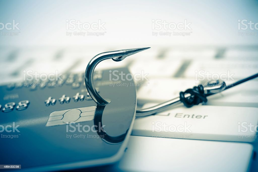 credit card phishing stock photo