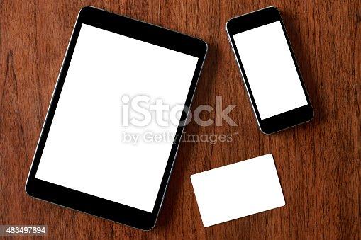 istock credit card & phone 483497694