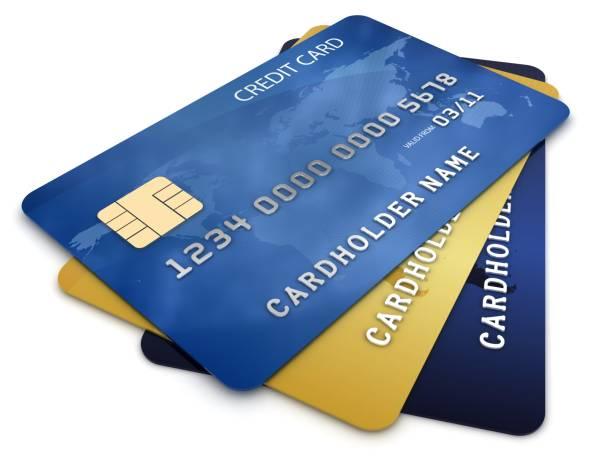 クレジットカードカード  ストックフォト