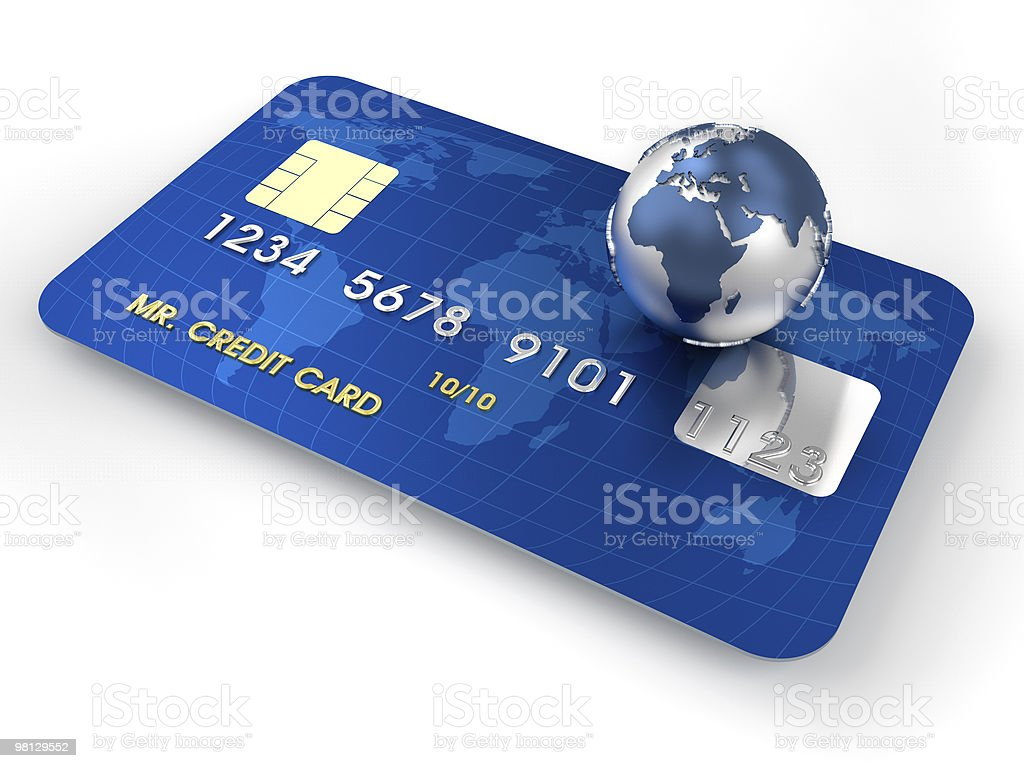 Carta di credito foto stock royalty-free