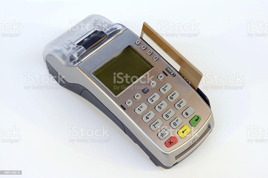 Credit Card Pos Machine stock photo