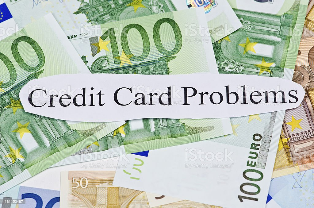 Credit Card Problems royalty-free stock photo