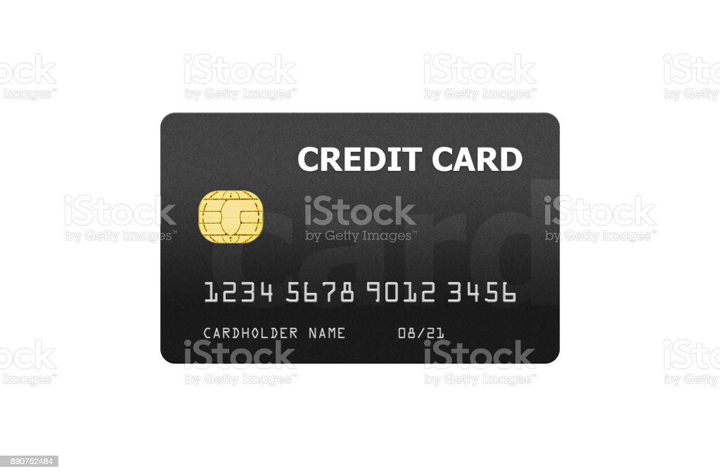 Credit card project template isolated on white – zdjęcie