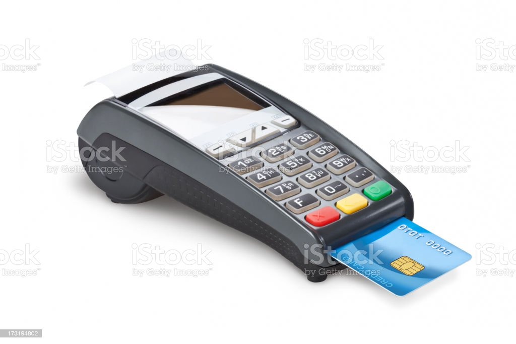 Credit card reader royalty-free stock photo