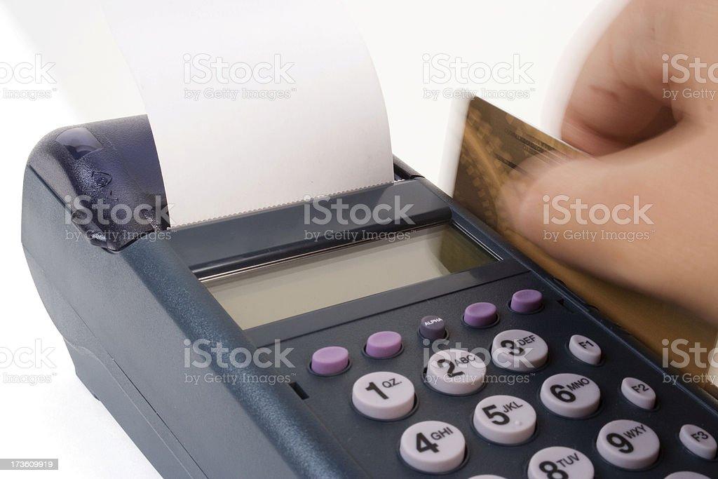 Credit card reader royalty-free stock photo