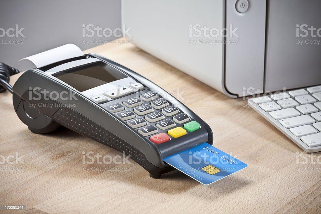 Credit card reader stock photo