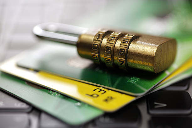 クレジットカードセキュリティのインターネット - id盗難 ストックフォトと画像