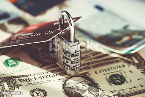 1054934004 istock photo Credit card security 1051038820