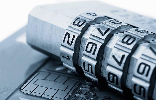 Seguridad de la tarjeta de crédito - foto de stock