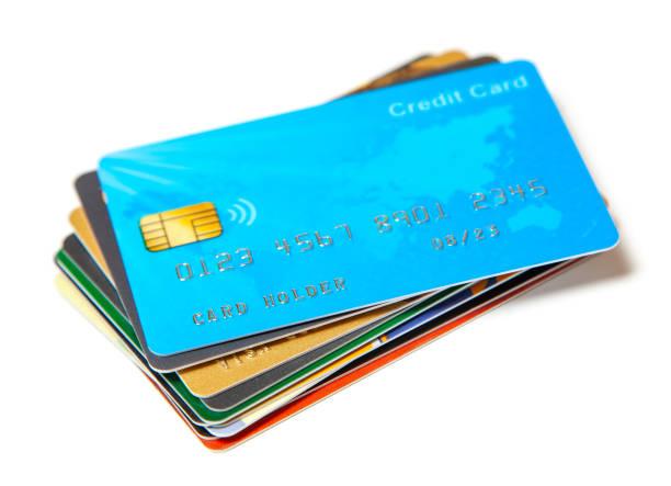 credit card set isolated - credit card zdjęcia i obrazy z banku zdjęć