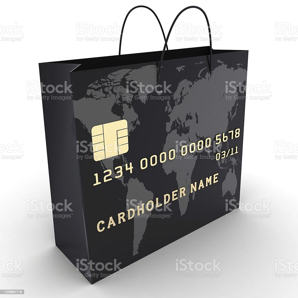 Credit Card Shopping royalty-free stock photo