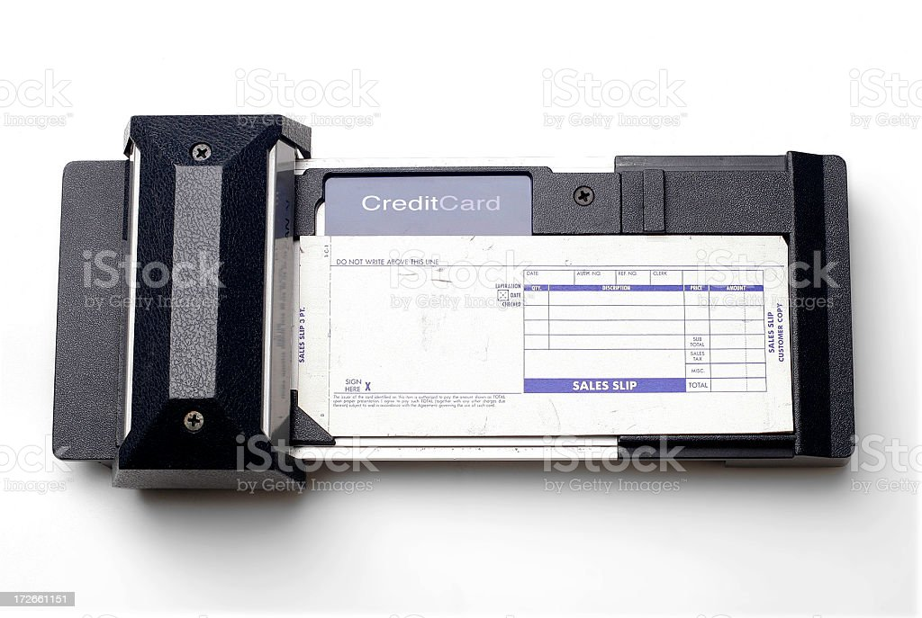Credit Card Swipe Device royalty-free stock photo