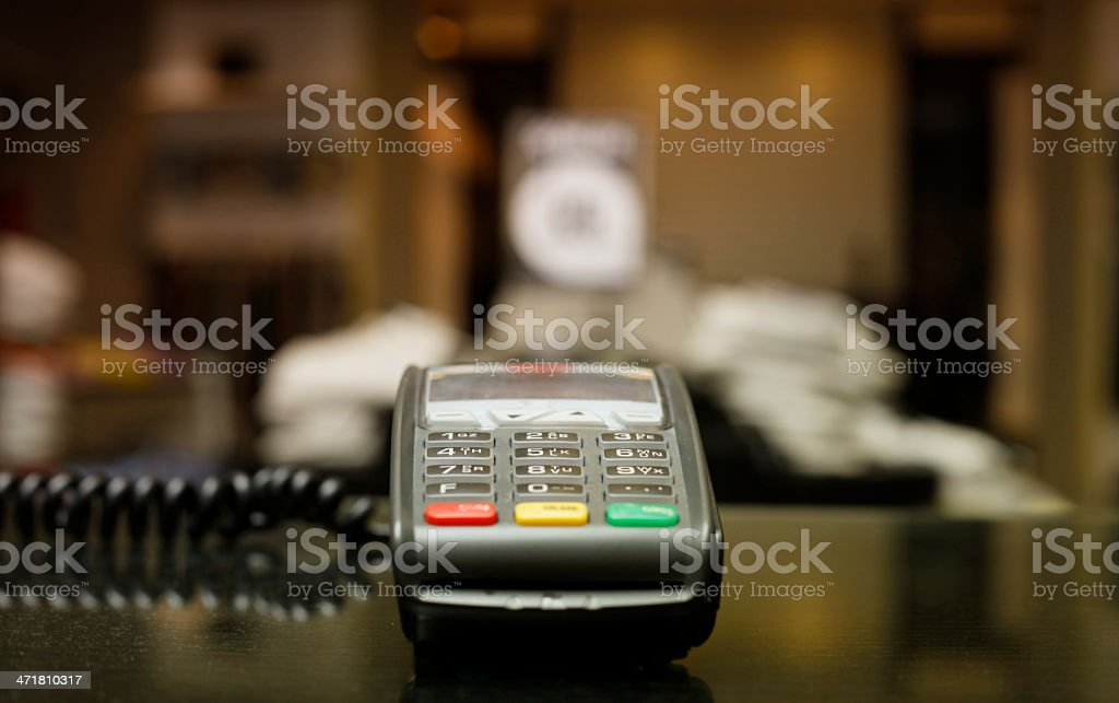 Credit Card Swipe stock photo