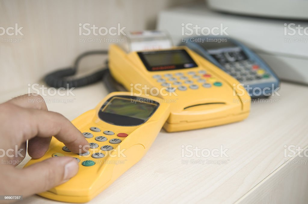 Credit Card Terminal royalty-free stock photo
