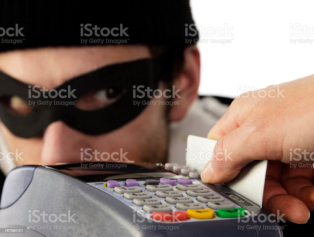 Credit Card Theft stock photo