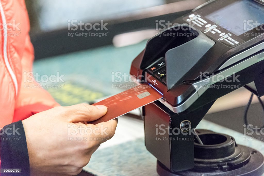Credit Card Transaction stock photo