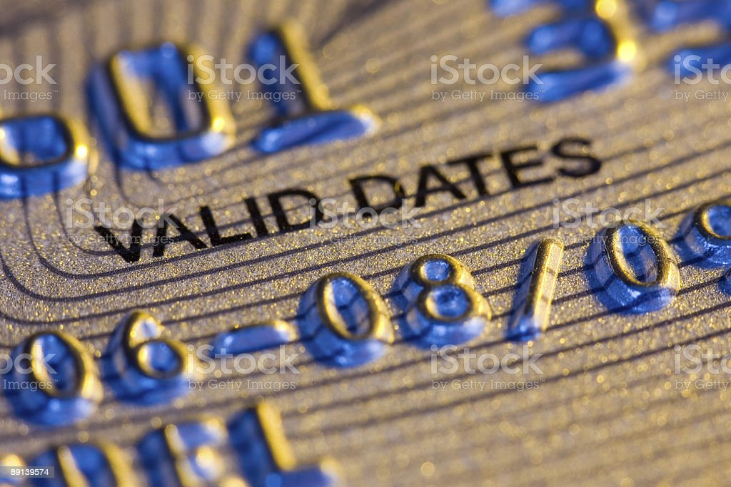 Credit Card - Valid Dates royalty-free stock photo