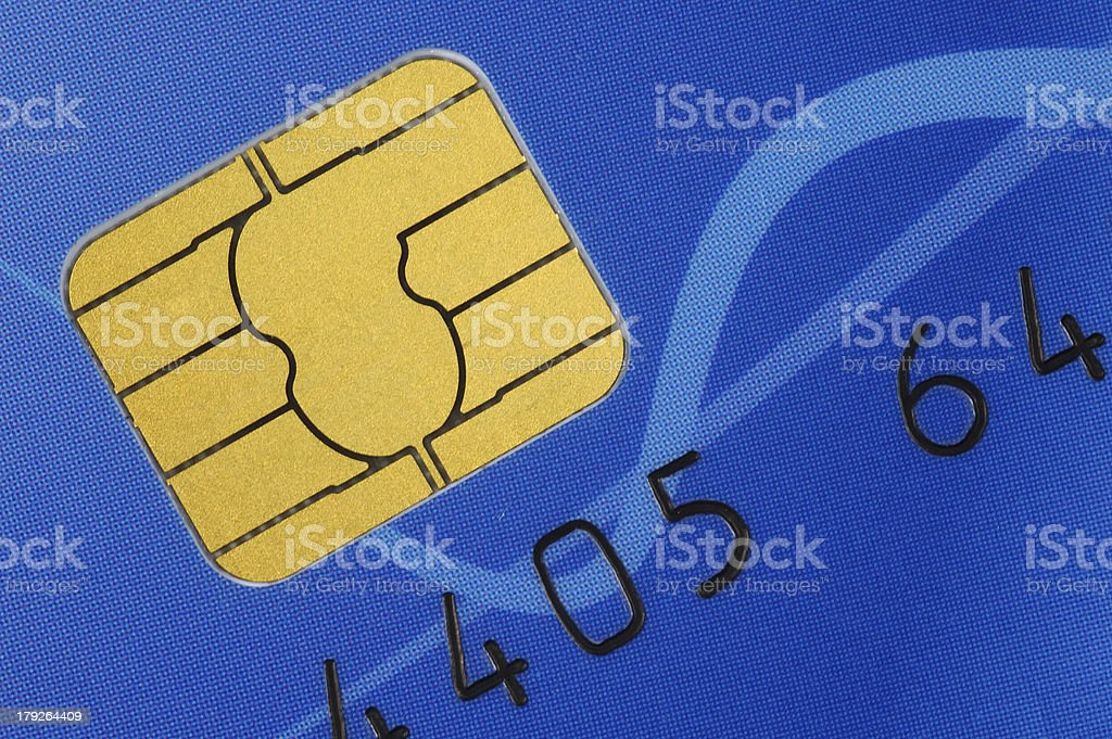 Credit Card With Chip royalty-free stock photo