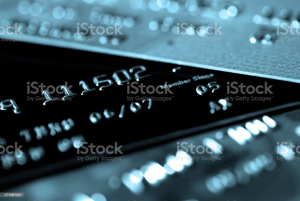 Credit Card with focus on 'Member Since' (Blue) royalty-free stock photo