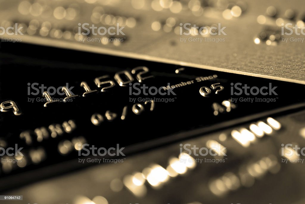 Credit Card with focus on 'Member Since' (Sepia) royalty-free stock photo