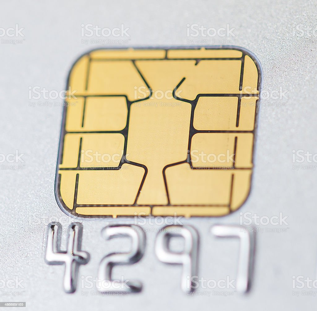 Credit Card with IC chip stock photo