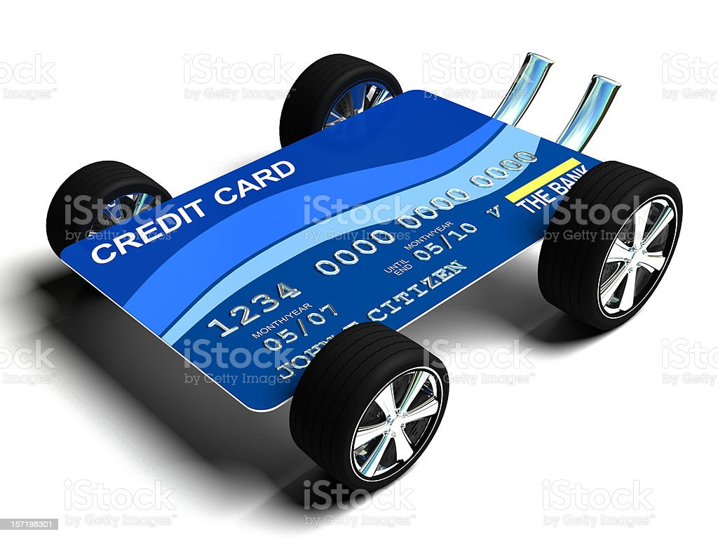 Credit Card with Wheels royalty-free stock photo