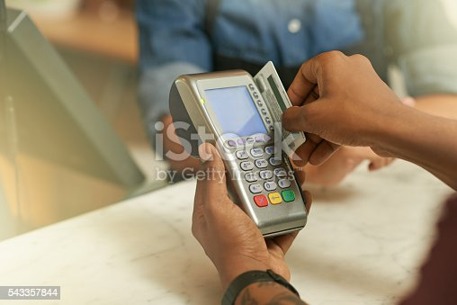 istock Credit cards accepted here 543357844