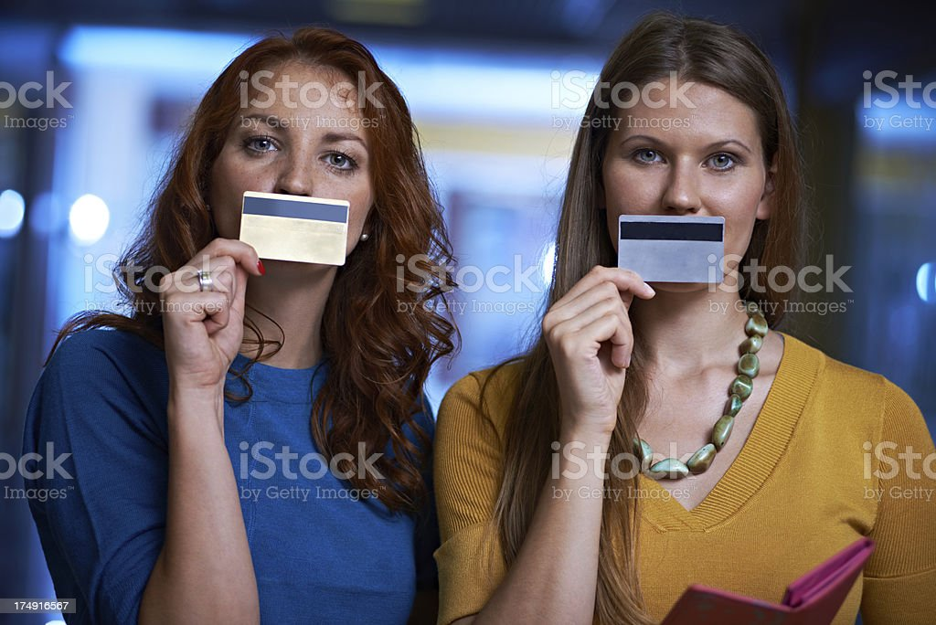 Credit cards have no smell royalty-free stock photo