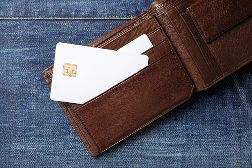 istock Credit cards in wallet 1162417848